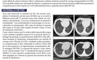 Valutazione dell'iterstiziopatia polmonare in corso di sclerosi sistemica tramite tomografia ad alta risoluzione (TCAR): responsività a confronto dell'analisi quantitativa computerizzata rispetto a metodi di scoring visivi semiquantitativi